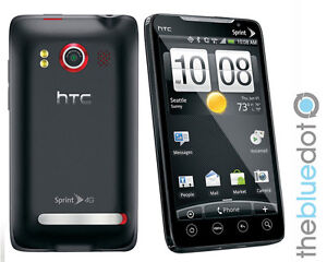 HTC EVO 4G Sprint Cell Phone Black No Contract Open Boxed Item