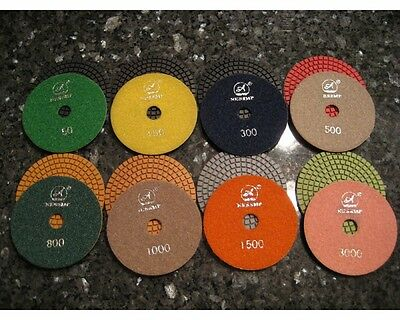 4 Wet Diamond Marble Granite Polishing Paddisc