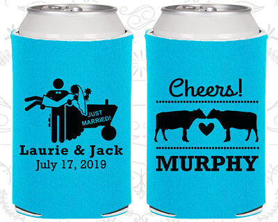 Wedding Favor Koozies Cheap Beer Can Koozie Ideas (555) Cheers, Farm, Country - Cheap Country Wedding Favors