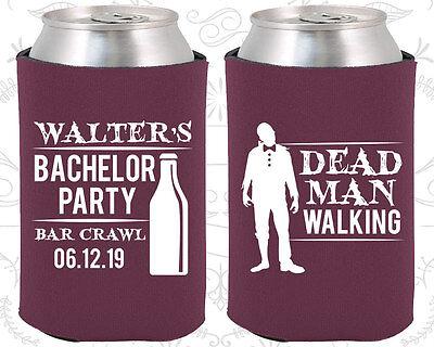 Bachelor Party Koozies Koozie Favors Ideas (40011) Dead Man Walking, Bar - Bar Crawl Ideas