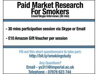 Paid Market Research - £10 for Email/Skype interview (30 mins)