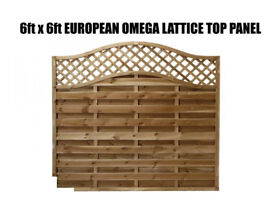 european omega lattice top panels 6ftx3ft-6ftx6ft !