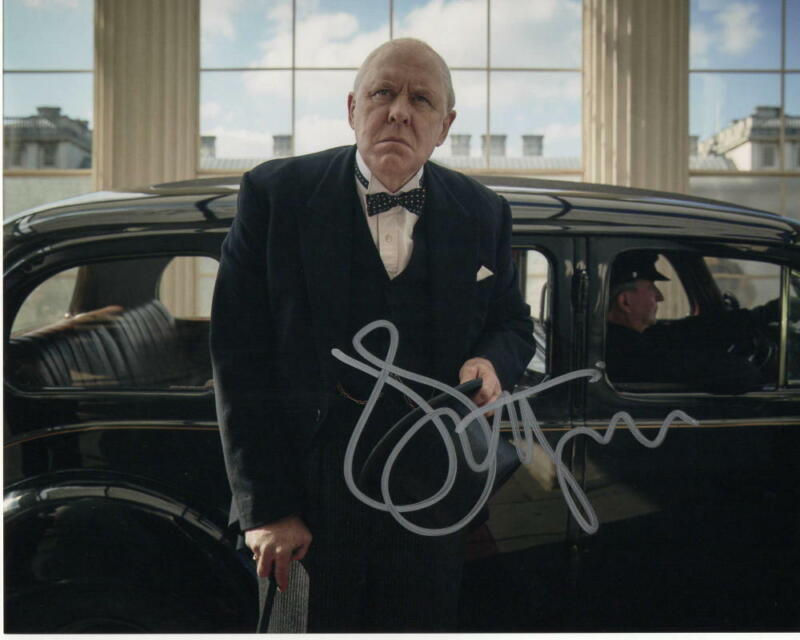 JOHN LITHGOW SIGNED AUTOGRAPH 8X10 PHOTO - WINSTON CHURCHILL, THE CROWN, DEXTER
