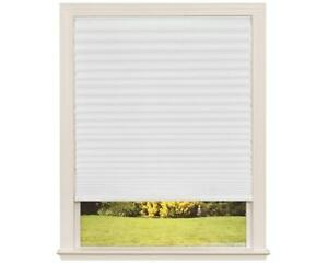 "NEW Easy Lift Trim-at-Home Cordless Pleated Light Filtering Fabric White 30""x64 Condition: New"