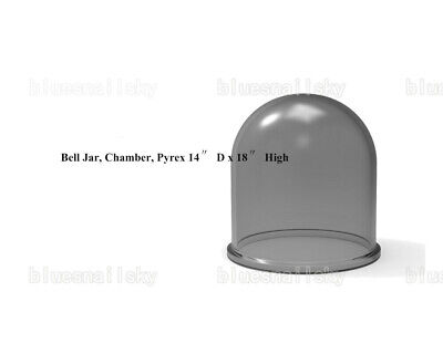 Thermal Evaporation System Chamber Glass Bell-jarpyrex 14 D X 18 High Us