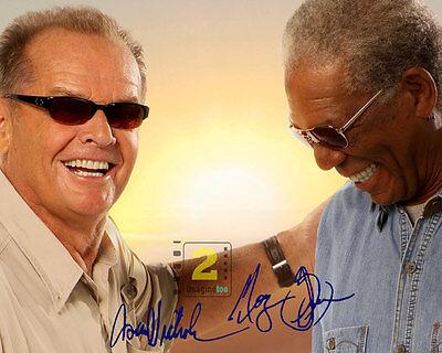 "Jack Nicholson - Morgan Freeman 10""x 8"" Signed Color PHOTO REPRINT"