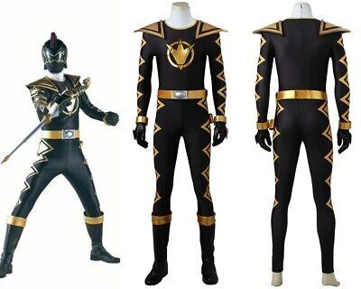 Power Rangers Dino Thunder Black Dino Ranger Cosplay Costume Handmade