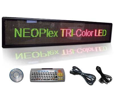13 H X 61 W Programmable Scrolling 3 Color Led Message Window Sign Light