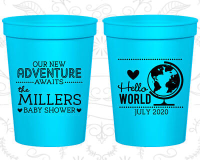 Inexpensive Party Supplies (Hello World, Cheap Baby Shower Cups, It's a Boy Cups, Baby Boy Shower)