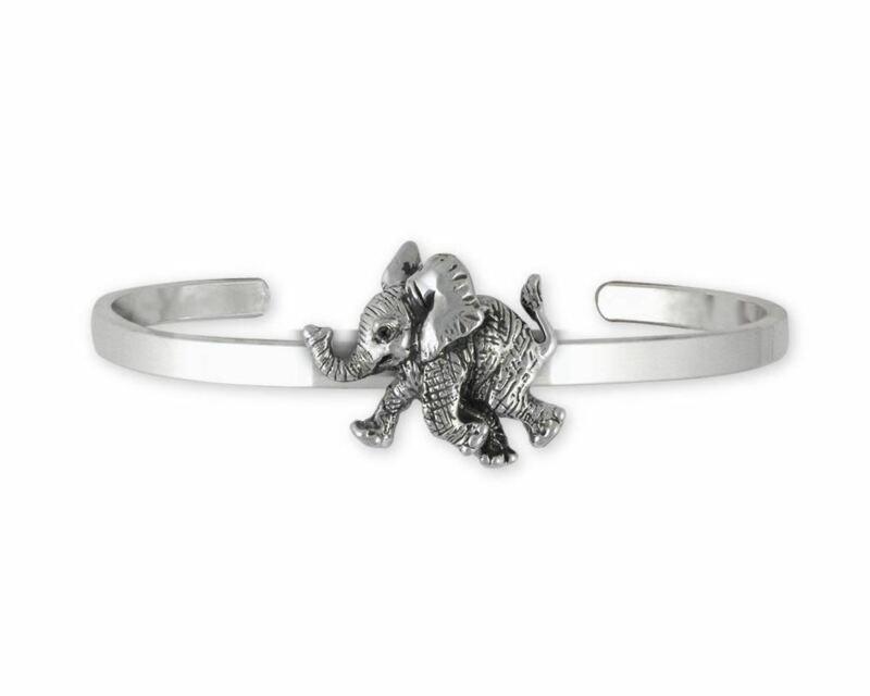 Elephant Jewelry Sterling Silver Elephant Bracelet Handmade Wildlife Jewelry EL1