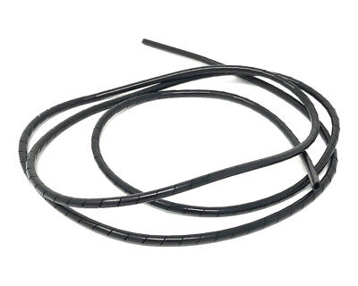 MOTORBIKE CABLE COVER SPIRAL WIRE WRAP   BLACK   6MM X 15M LONG TRIKE