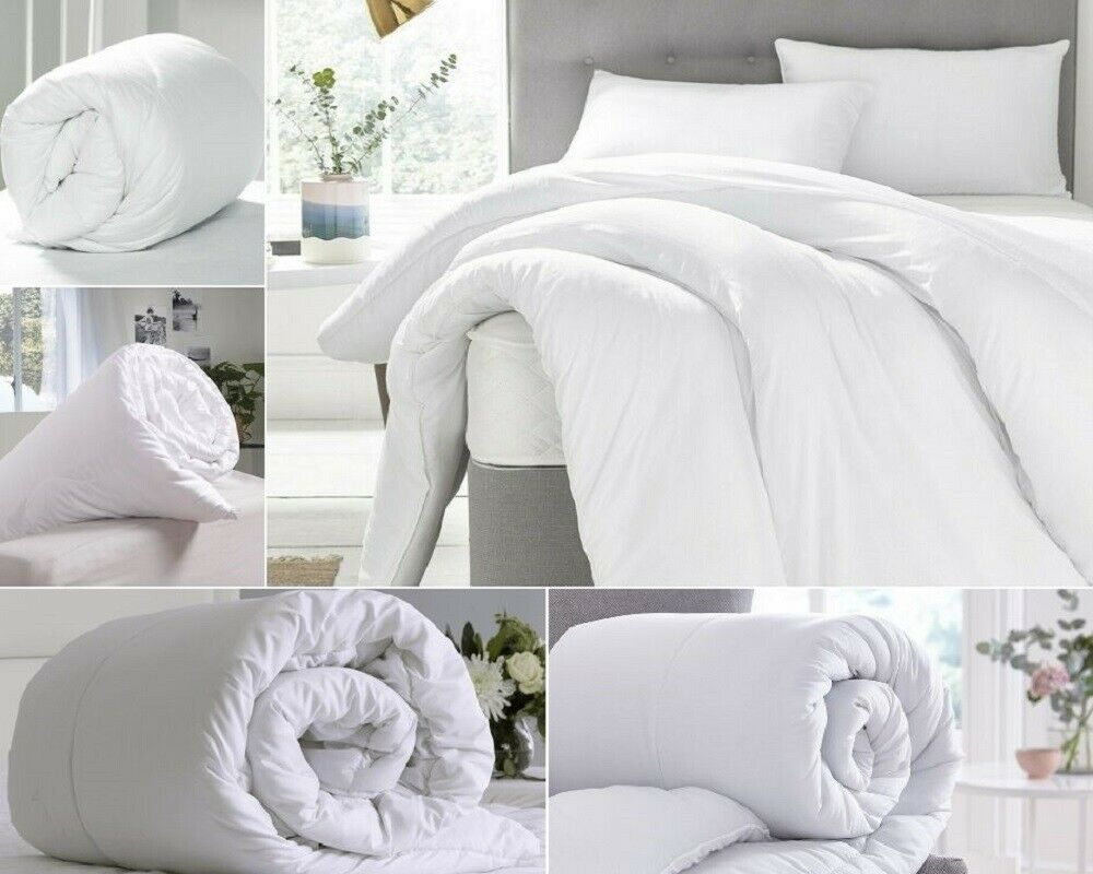 15 Tog  EGYPTIAN Cotton Hollowfibre Filled Winter Warmer Luxury Duvet Quilt