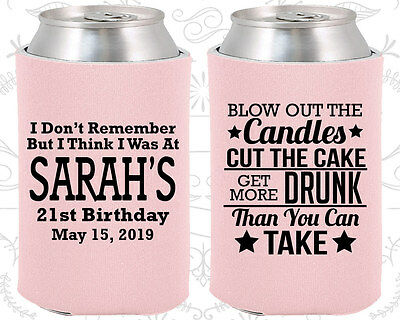 Personalized 21st Birthday Party Ideas Coozies (20108) 21 And Legal, Supplies](Personalized Wedding Favor Ideas)