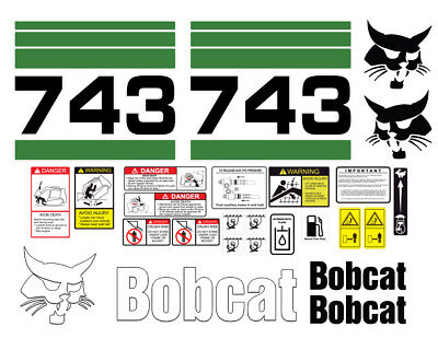 Bobcat 743 Skid Steer Set Vinyl Decal Sticker - 25 Pc - Free Shipping