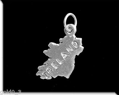 Ireland Map Charm Sterling silver 925 charmmakers