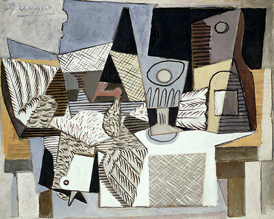 10413.Poster print in Paper or Canvas.Art decor.Picasso.Bird.Still life.Cubism