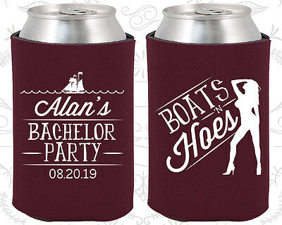 Bachelor Party Koozies Koozie Favors Ideas (40021) Boats And Hoes, Nautical - Party Favors Ideas