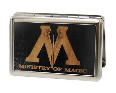 Metal Magic Holder (Harry Potter Ministry of Magic Metal Multi Use Wallet Card Business Holder New  )