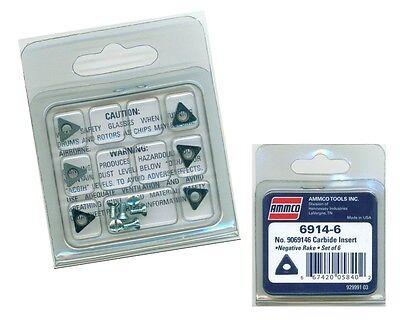 - AMMCO Carbide Brake Lathe Inserts / Bits 9069146 or #6914-6 Negative Rake - NEW