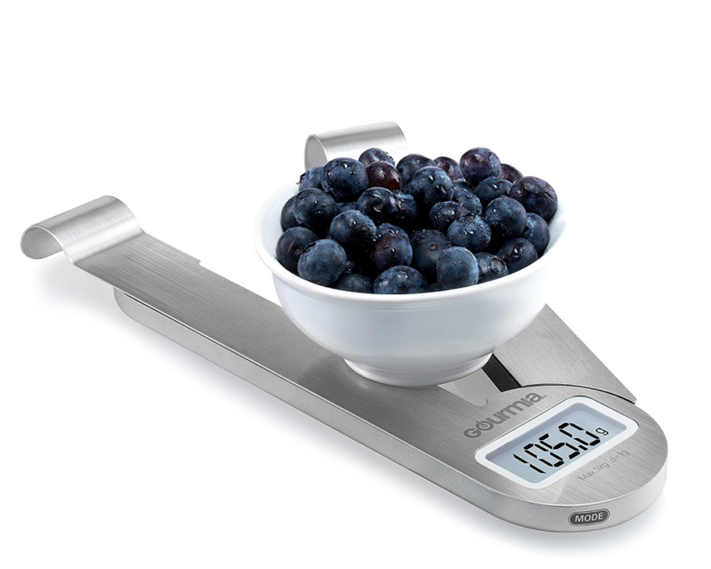 Folding Compact Electronic Kitchen Scale w Hanger Hook, Measuring Tool, Cooking