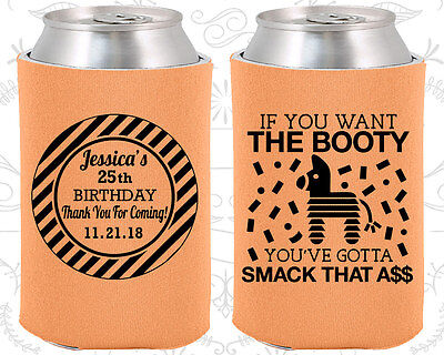 Personalized 25th Birthday Party Ideas Coozies (20138) Birthday Pinata](Personalized Wedding Favor Ideas)