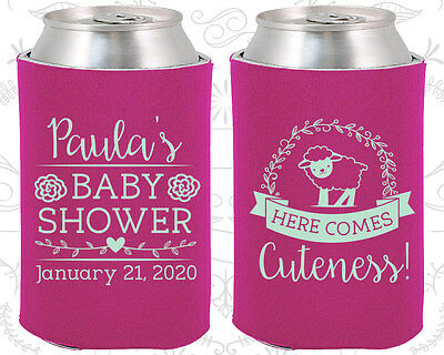 Baby Girl Baby Shower Ideas (Baby Shower Koozies Koozie Ideas (90038) Sheep, Baby Girl,)