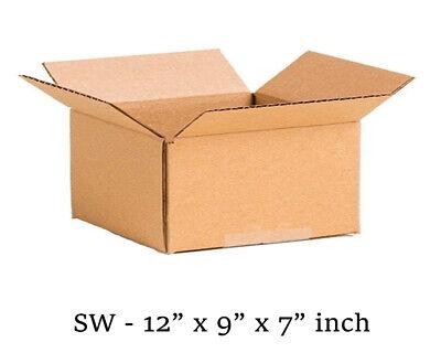 50 MOVING BOX Single Wall Cardboard 12x9x7