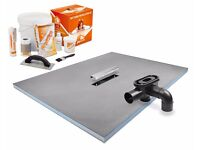 Wet Room Kit, Linear Centre Drain Former 1400x900mm tray with drain and full kit