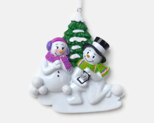Snowman Proposal - Engagement Christmas Ornament - DIY Personalizable - PolarX