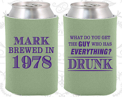 40th Party Ideas (Personalized 40th Birthday Party Ideas Coozies (20148) Supplies,)