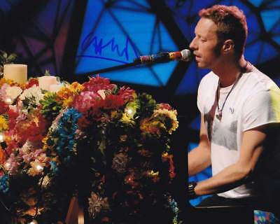 Chris Martin In-person AUTHENTIC Autographed Photo COA Coldplay SHA 10511 - $125.00