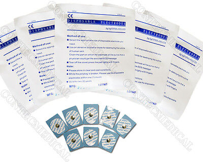 20 Pcs Disposable Ecg Electrodes For Ecgekg Machineconductivecontec
