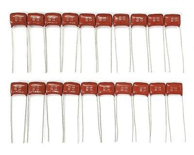 Lot Of 20 New 0.1uf 100v Metallized Polypropylene Film Capacitors 100nf 5