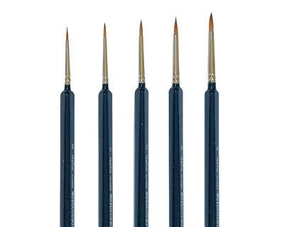 Rotmarder Pinsel Größe 0,1,2,3,4  für Modellbau, Ölfarbe, Acryl, Aquarellfarbe
