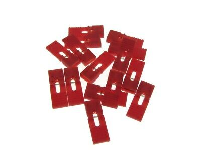 2p 2-pin 2.54mm Pitch Jumper W Handle For Straight Header - Red - Pack Of 100