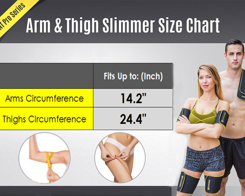 25b7d68446 Sweat Sauna Body Wraps Weight Loss Arm Thigh Shaper Fat Slimming ...