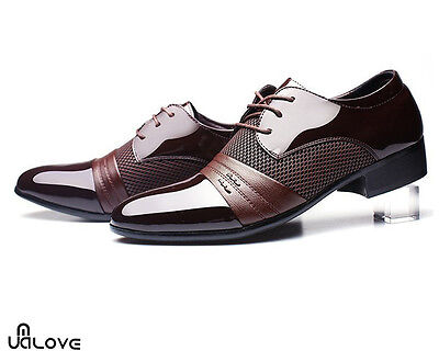 Fashion Men Classic Oxfords Leather Shoes Wedding Dress Business Casual Shoes