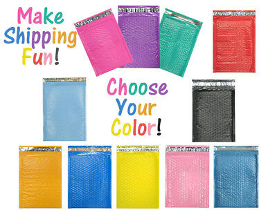 10 X 16 Choose Colors Poly Bubble Mailers Shipping Padded Envelopes 10.5 X 15