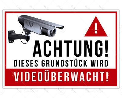 Schild - Videoüberwachung, Hinweisschild - 30x20cm, Alu, 3mm, UV-Lack, Outdoor 20 X Video