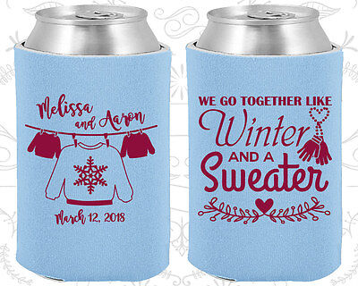 Wedding Favor Coozies Cheap Beer Can Coozie Idea (566) Christmas Wedding Favors - Cheap Christmas Favors