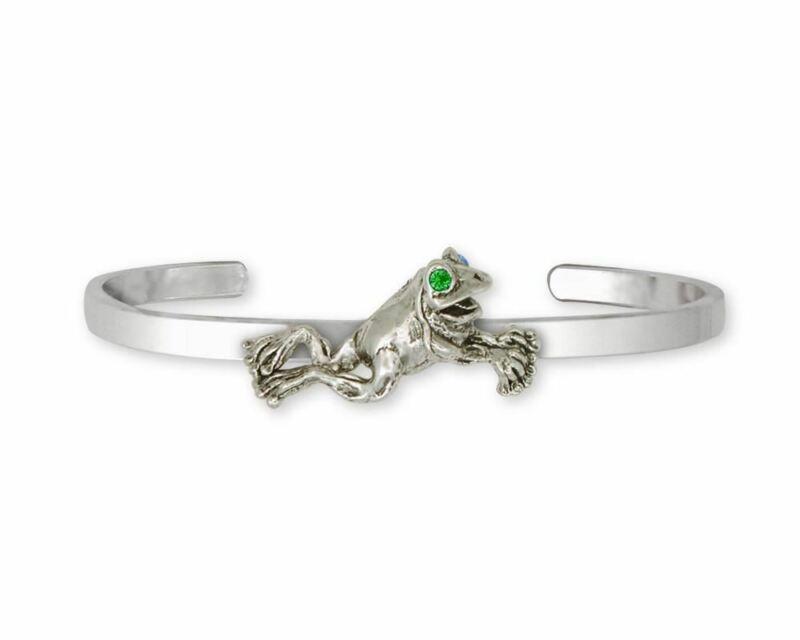 Frog Bracelet Jewelry Sterling Silver Handmade Frog Bracelet FG11-XCB