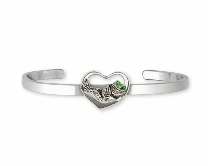 Frog Bracelet Jewelry Sterling Silver Handmade Frog Bracelet FG17-XCB