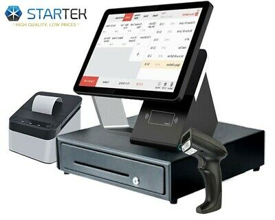 Double Touch Screen Pos Cash Register 0 Monthly Fee And Free Retail Software