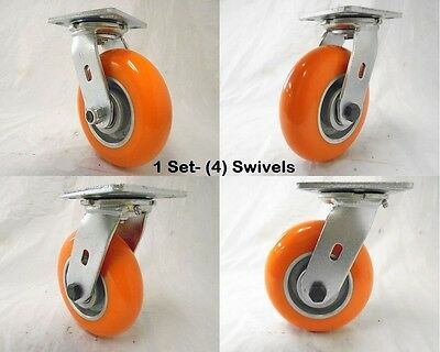 6 X 2 Swivel Caster Apex Polyurethane Wheel 1200 Lbs Each Tool Box 4