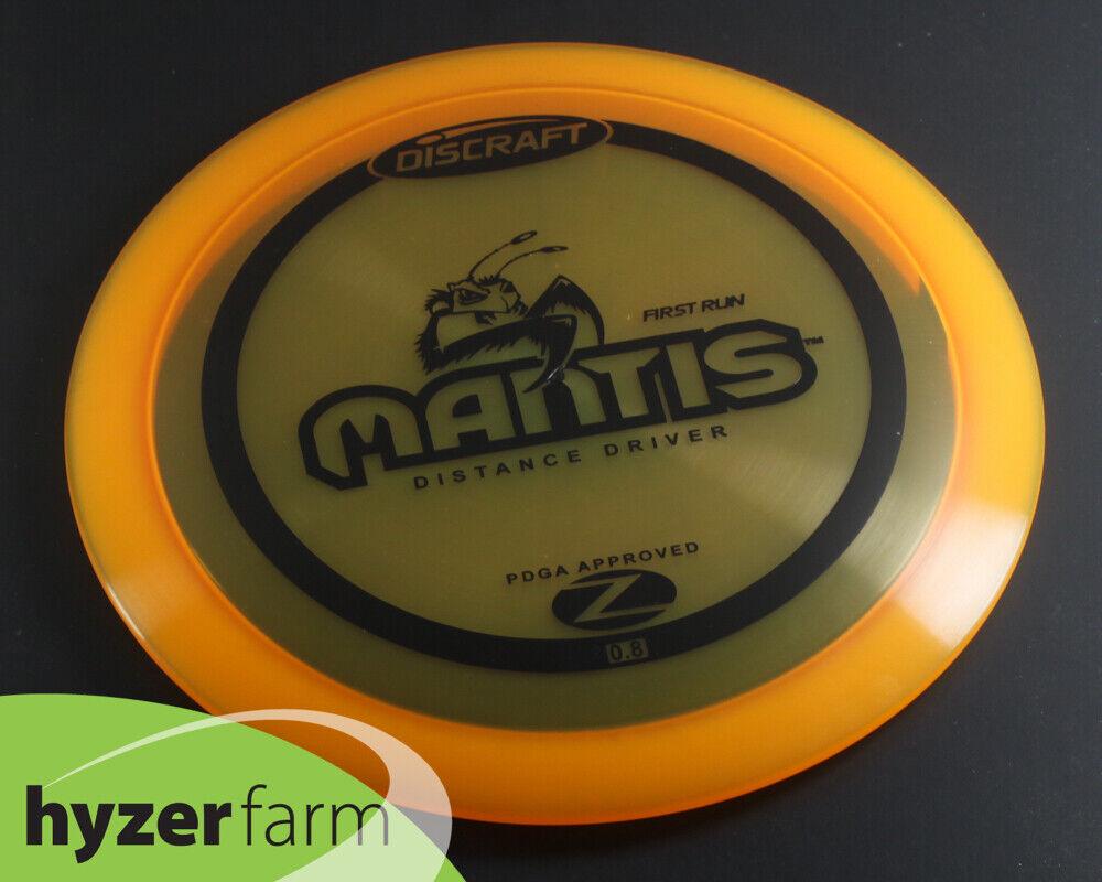 DISCRAFT NEW FIRST RUN Z MANTIS OOP Disc Golf Hyzer Farm Black Friday D10 - $40.00