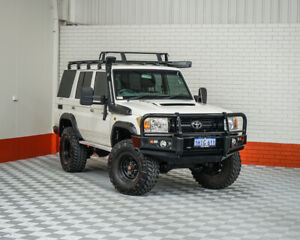 2011 Toyota Landcruiser VDJ76R MY10 Workmate White 5 Speed Manual Wagon