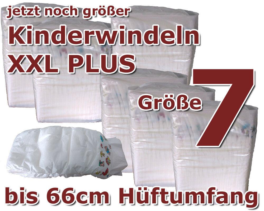 XXL Kinderwindeln Gr. 7, 22+ Kg (55 - 66 cm) - (6x16 St. Karton)