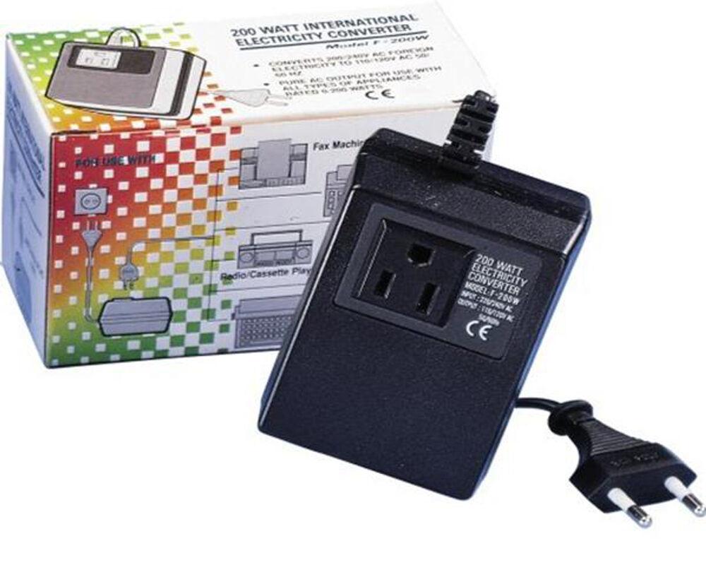 200 watt compact voltage converter transformer 220v