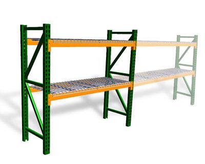 Pallet Rack Starter Kit With Wire Deck - Teardrop - 42d X 96w X 120h