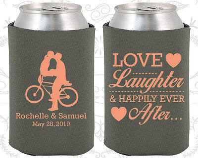 Romantic Wedding Ideas (Wedding Favor Coozies Cheap Beer Can Coozie Idea (376) Bicycle, Romantic)